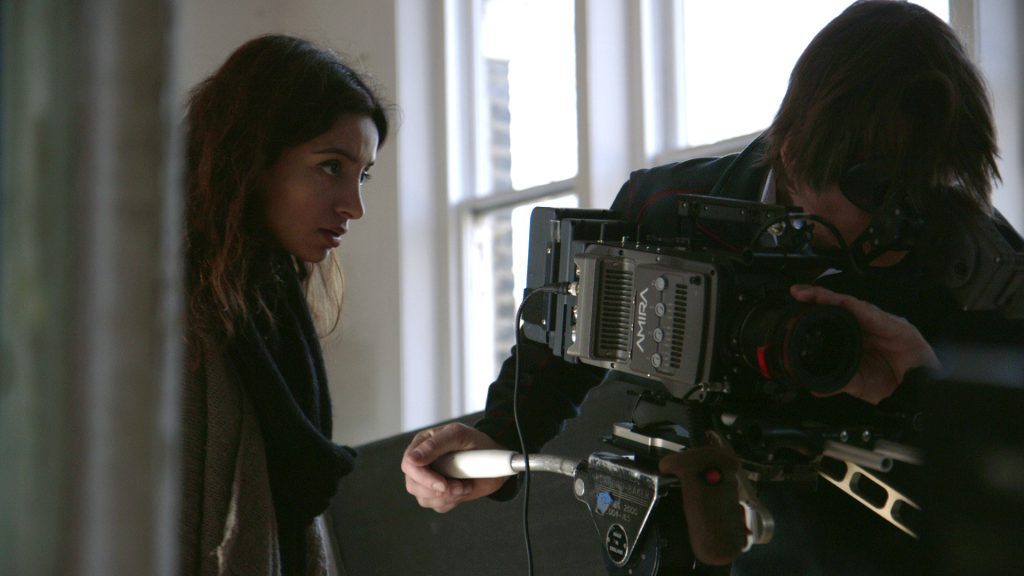 Deeyah Khan filming the Bafta-nominated Fuuse film Jihad